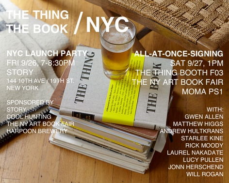 THE THING THE BOOK: Official NYC Launch Party
