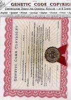 Genetic Code Copyright Certificates