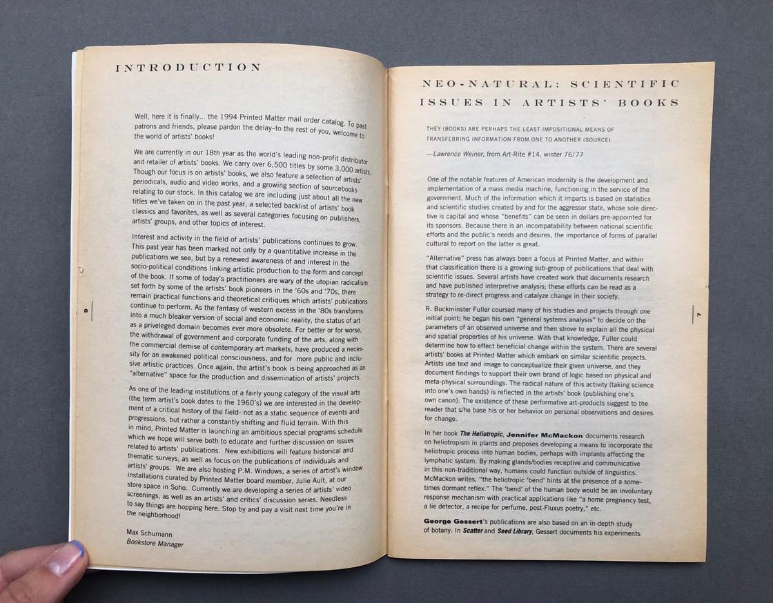 Printed Matter 1993 Catalog thumbnail 5