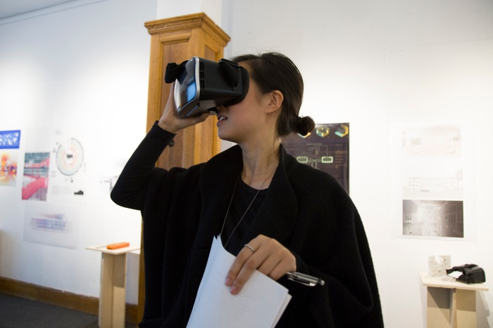 Final review including VR visualization in David Benjamin's Advanced Architecture Studio