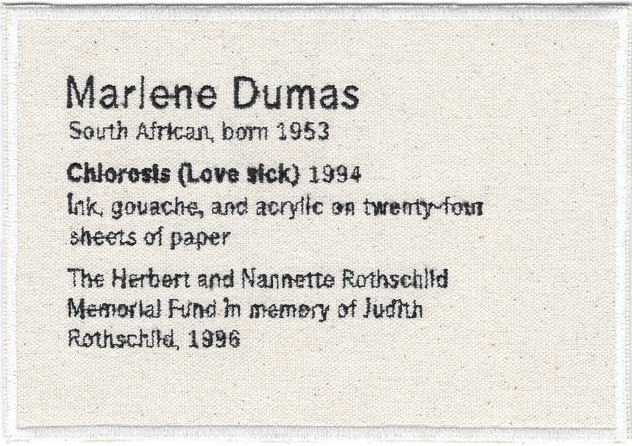 Permanent Collection Canvas Patch: Marlene Dumas