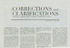 Corrections and Clarifications