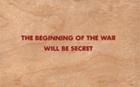 The Beginning of the War Will Be Secret Wooden Postcard