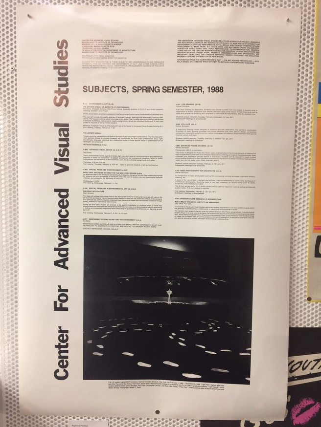 Center for Advanced Visual Studies : Subjects, Spring Semester, 1988