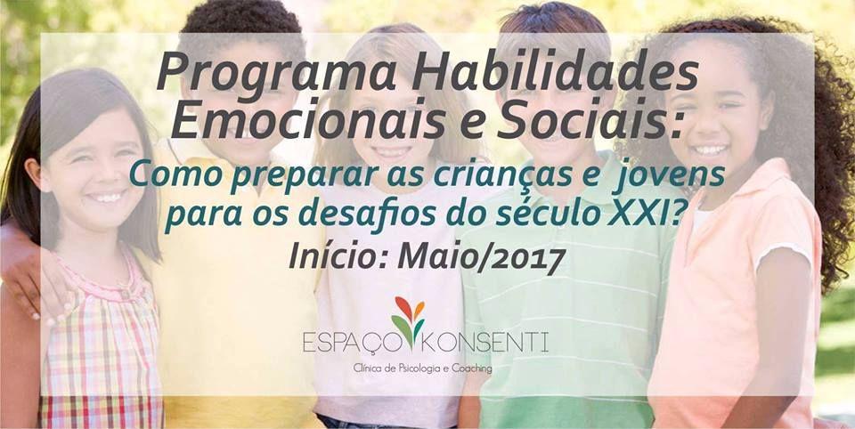 """Programa """"Habilidades Emocionais e Sociais para Crianças"""""""