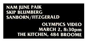 Olympics Video March 2, 1980 [The Kitchen Posters]