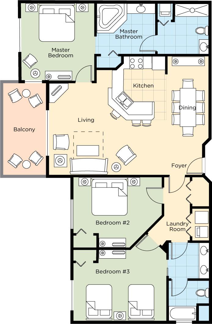 Apartment Bonnet Creek Orlando 3 Bedroom 2 Bath photo 16825329