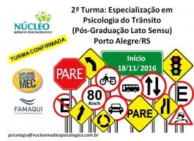 Especialização em Psicologia do Trânsito (Pós-Graduação Lato Sensu)