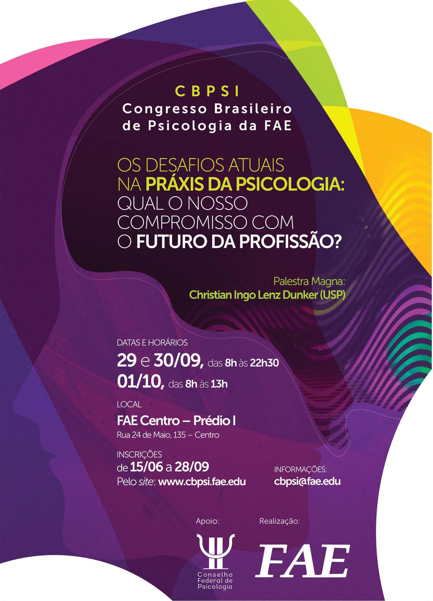 I Congresso Brasileiro de Psicologia da FAE