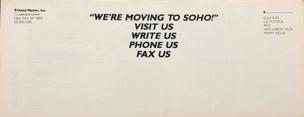 Printed Matter Inc. June/July 1989 Flyer