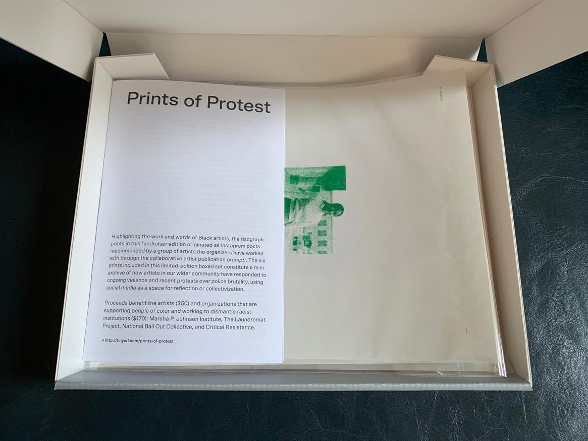 Prints of Protest: Boxed Set (Prints by Anaïs Duplan, Kameelah Janan Rasheed, Julian Louis Phillips, Tony Cokes, Neema Githere, and Erica Génécé) thumbnail 2