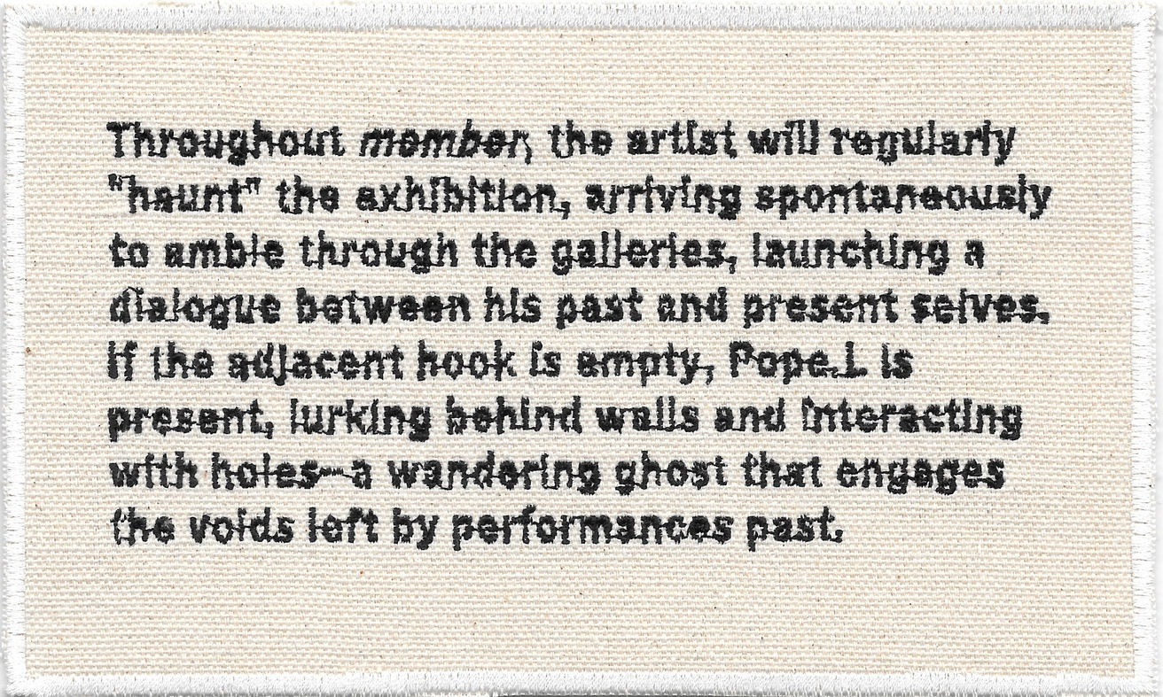 Permanent Collection Canvas Patch: Pope.L