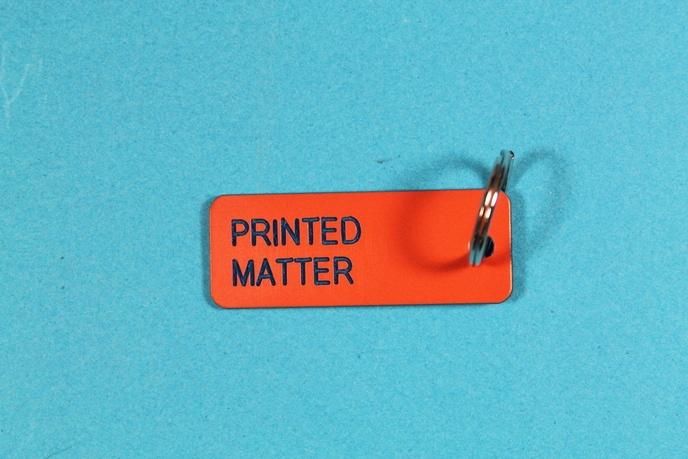 Printed Matter Keytag