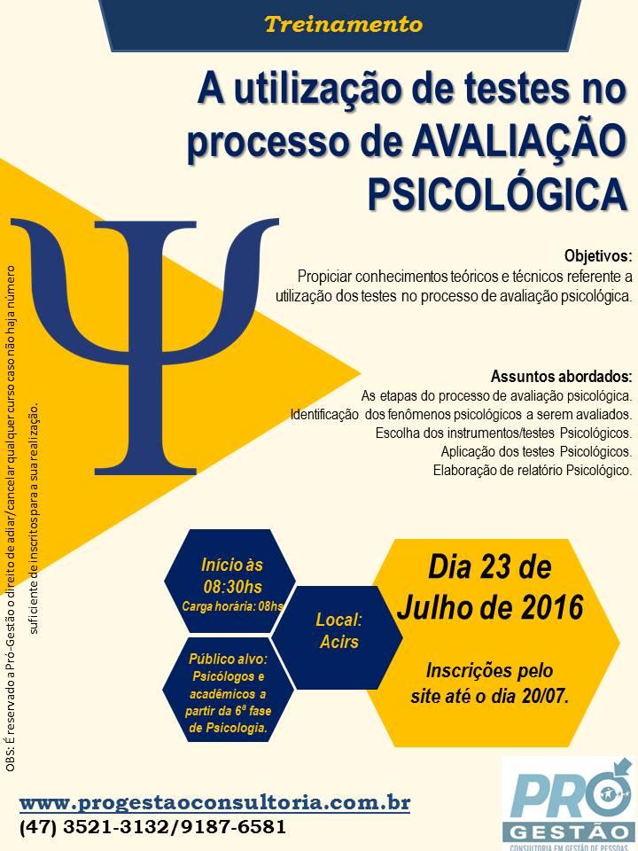 A UTILIZAÇÃO DE TESTES NO PROCESSO DE AVALIAÇÃO PSICOLÓGICA