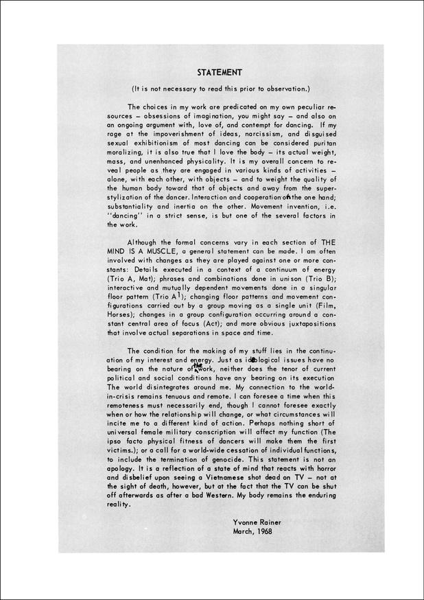 Yvonne Rainer: Work 1961–73 thumbnail 6