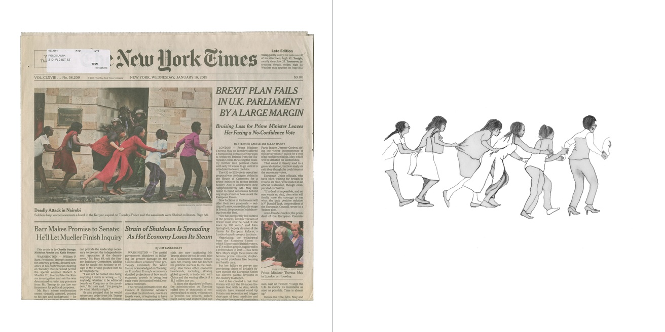 Front Pages with Pictures of Women Walking and Running: The New York Times thumbnail 3