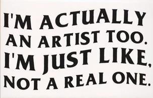 I'm an Artist Postcard
