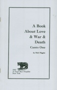 A Book About Love & War & Death : Canto One