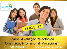 Avaliação Psicológica Orientação Profissional (vocacional)