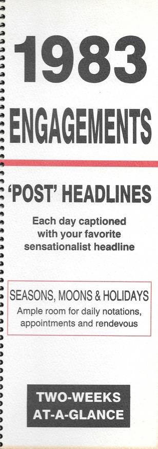 Engagements Calendar 1983