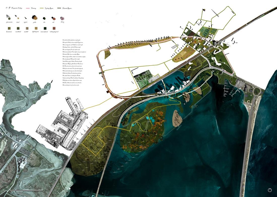 Urban plan by Xiao Tan and Liyang Wang.