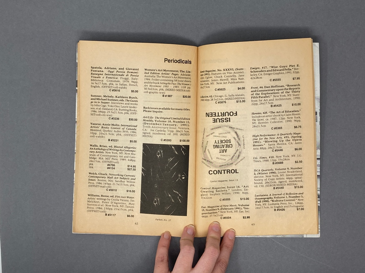 Printed Matter Bookstore at Dia Spring 1991 Catalog thumbnail 5