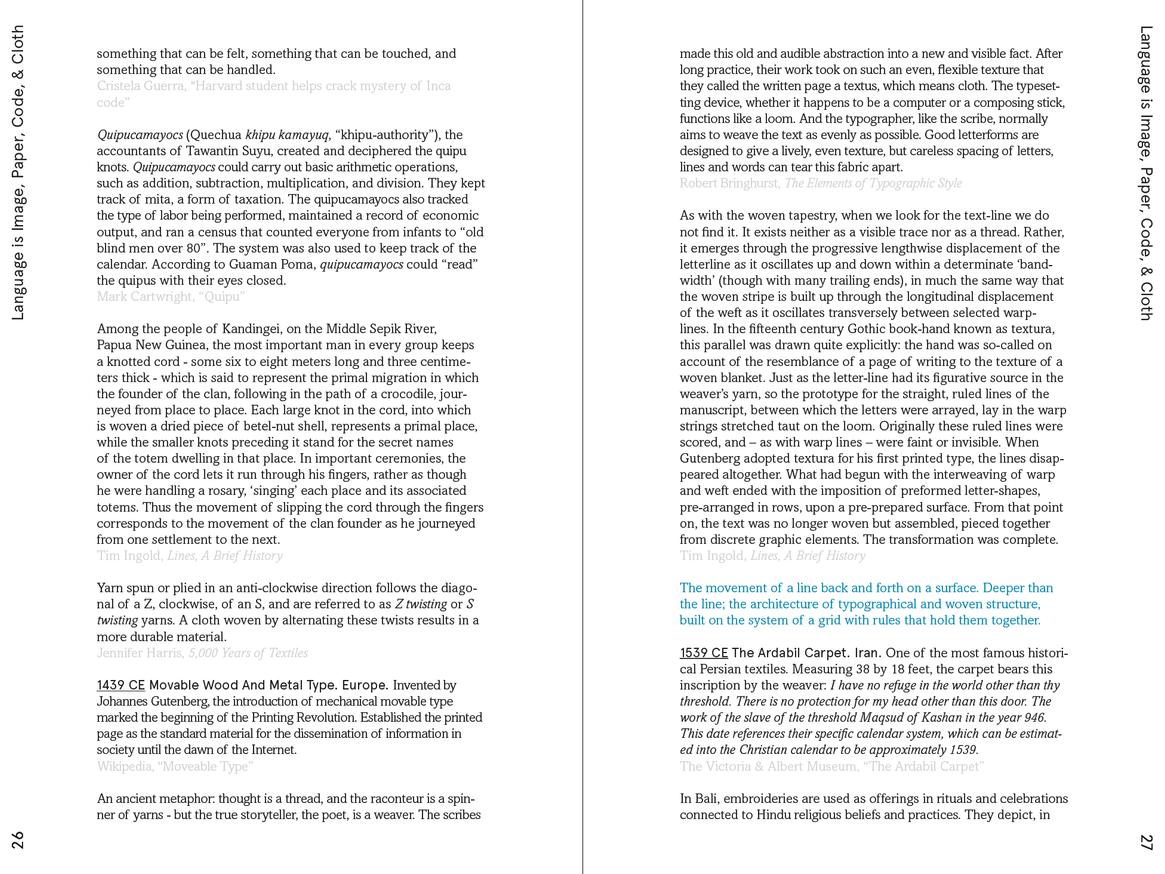 Weaving Language II: Language is Image, Paper, Code, & Cloth thumbnail 4