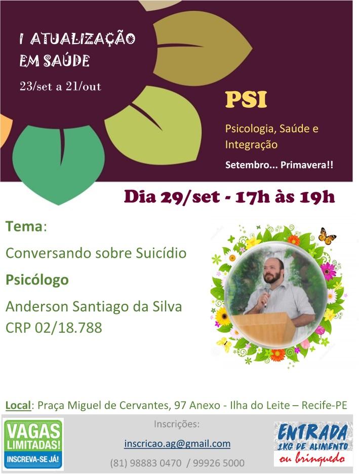 I ATUALIZAÇÃO EM SAÚDE - Conversando sobre Suicídio