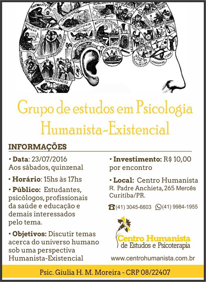 Grupo de estudos em Psicologia Humanista-Existencial