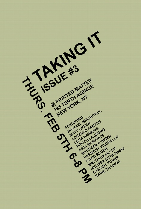 Taking it - Zine Launch