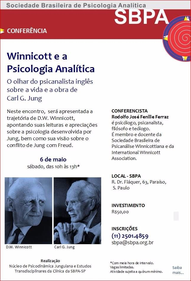 Conferência: Winnicott e a Psicologia Analítica