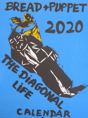 2020 Bread & Puppet Calendar : Diagonal Line