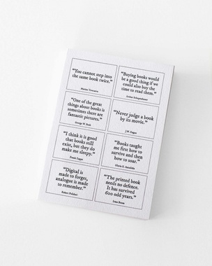 Inverted Commas: Postcards On Books