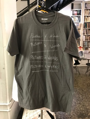 Pictures & Words T-Shirt in Gray [Large]