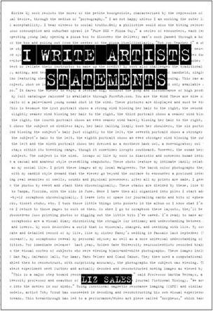 I Write Artist Statements