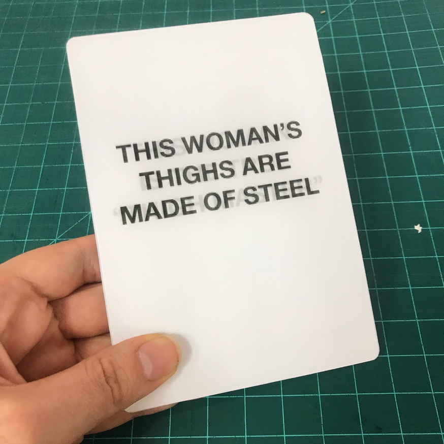 """Headline A/B Test: This Woman Is The True """"Thigh Master"""" / This Woman's Thighs Are Made of Steel [Lenticular Card] thumbnail 2"""