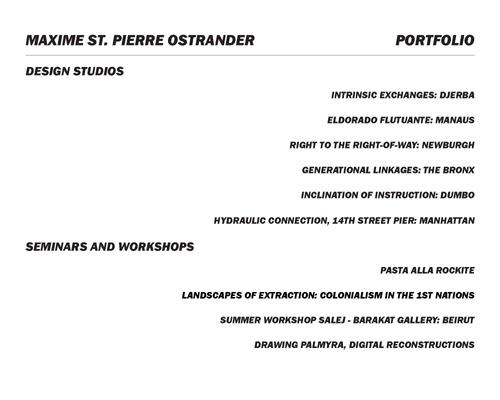 ARCH St.PierreOstranderMaxime SP20 Portfolio.pdf_P1_cover.jpg