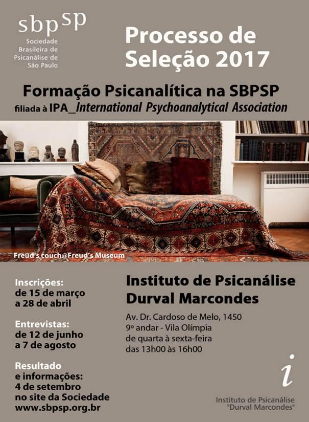 Processo Seletivo 2017 - Formação Psicanalítica na SBPSP