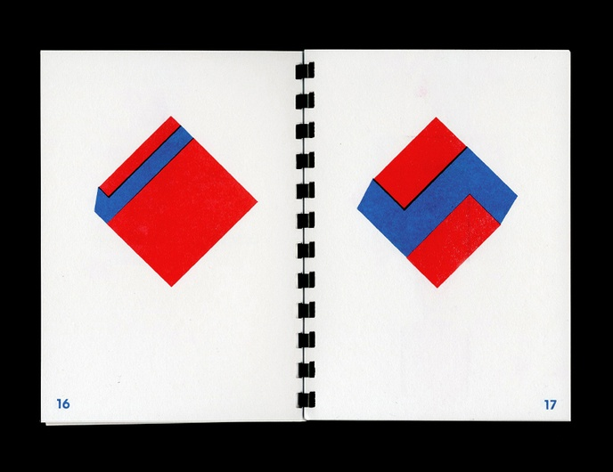1970-1977 : 20 Geometric Abstractions in Red and Blue from Daniel Peralta's Sketchbook thumbnail 5