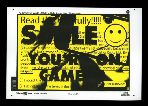 SMILE YOU'RE ON CAMERA Print