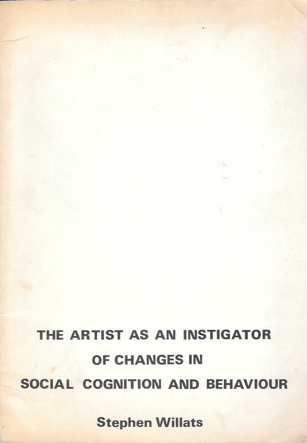 The Artist As An Instigator Of Changes In Social Cognition And Behaviour
