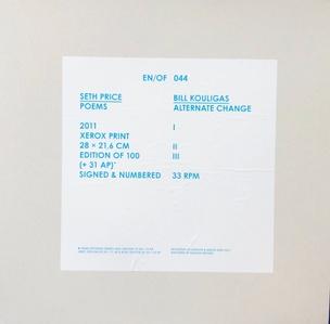 EN/OF 044: Seth Price / Kouligas