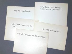 Ample Food for Stupid Thought: Why? (Set of 5 Random Cards)