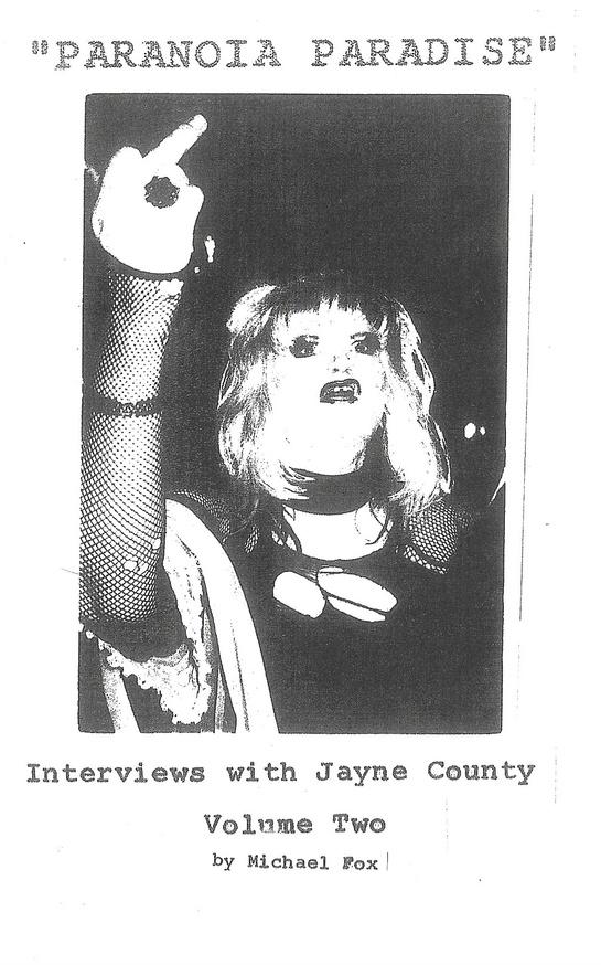 Paranoia Paradise Vol. 1 & 2: Interviews with Jayne County thumbnail 2