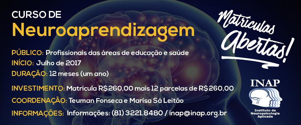 Curso de Neuroaprendizagem online (ao vivo) e presencial