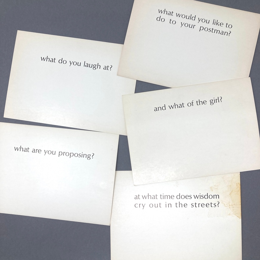 Ample Food for Stupid Thought: What? (Set of 5 Random Cards) thumbnail 3