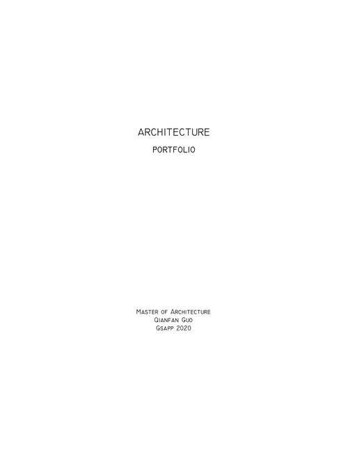 ARCH GuoQianfan SP20 Portfolio.pdf_P1_cover.jpg