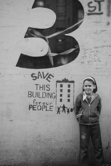 FIG. 5: Graffiti from the early 1970s well describes the ethos of New York City's community development corporation movement and that of many early historic preservation advocates. Image is property of Pratt Center for Community Development.