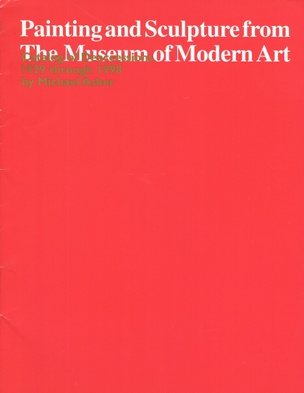 Painting and Sculpture from the Museum of Modern Art: Catalog of Deaccessions 1929-1998