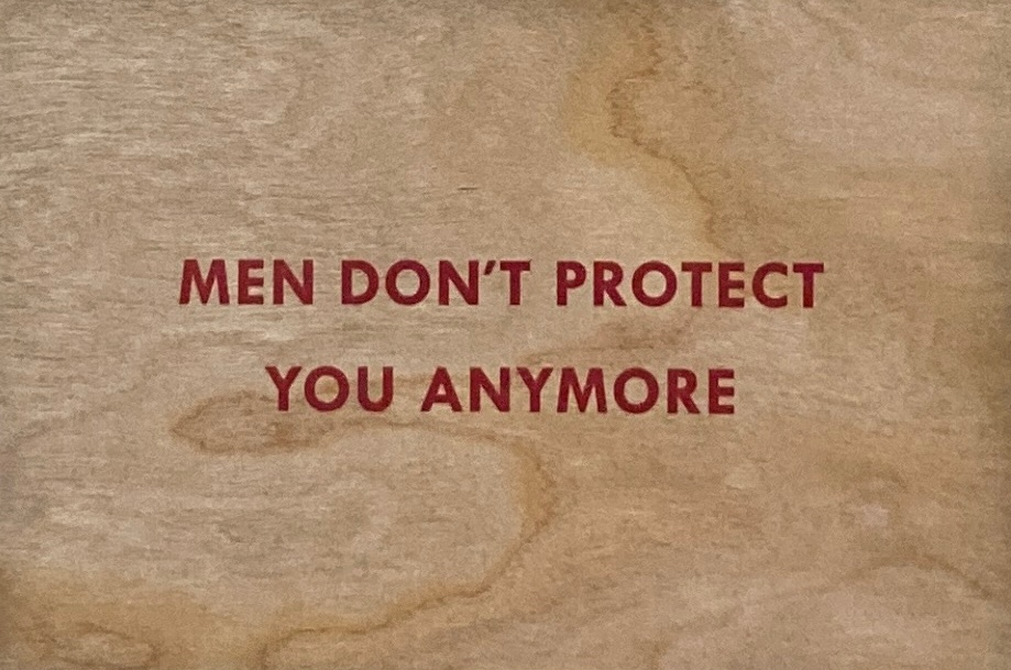 Men Don't Protect You Anymore Wooden Postcard